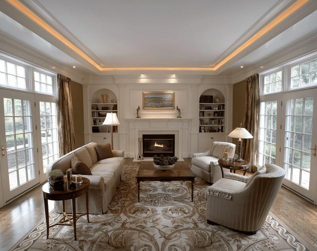 99 Kiểu trần thạch cao phòng khách hiện đại 2018